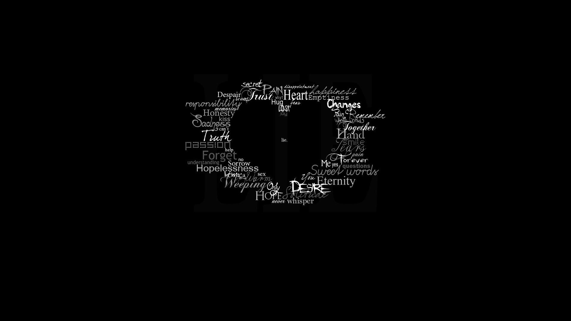 Черные картинки с надписью про любовь