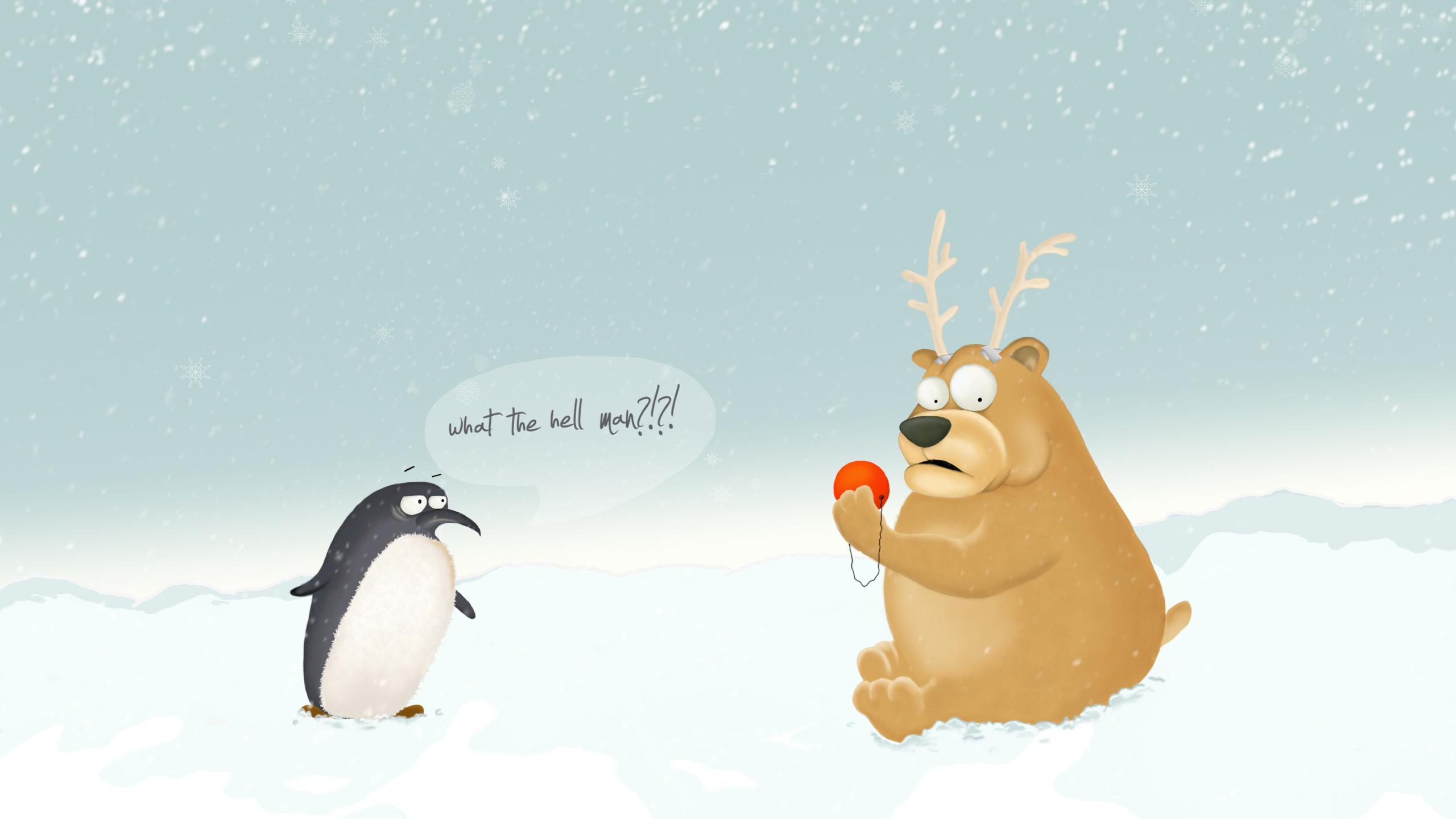 Для, зимние смешные рисунки