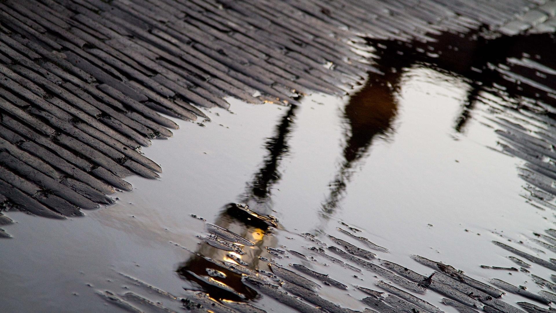 картинки с дождем и лужами большой