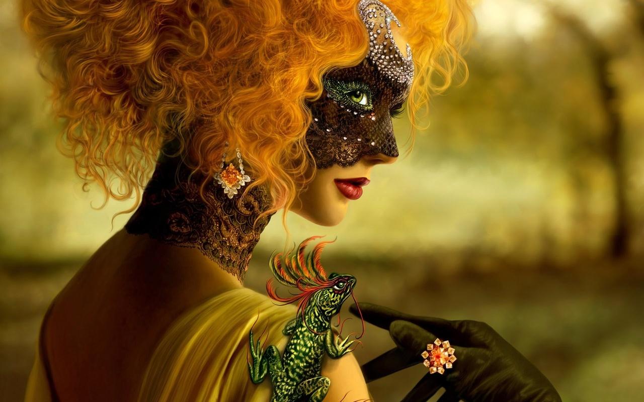 Женщина с ящерицей картинки