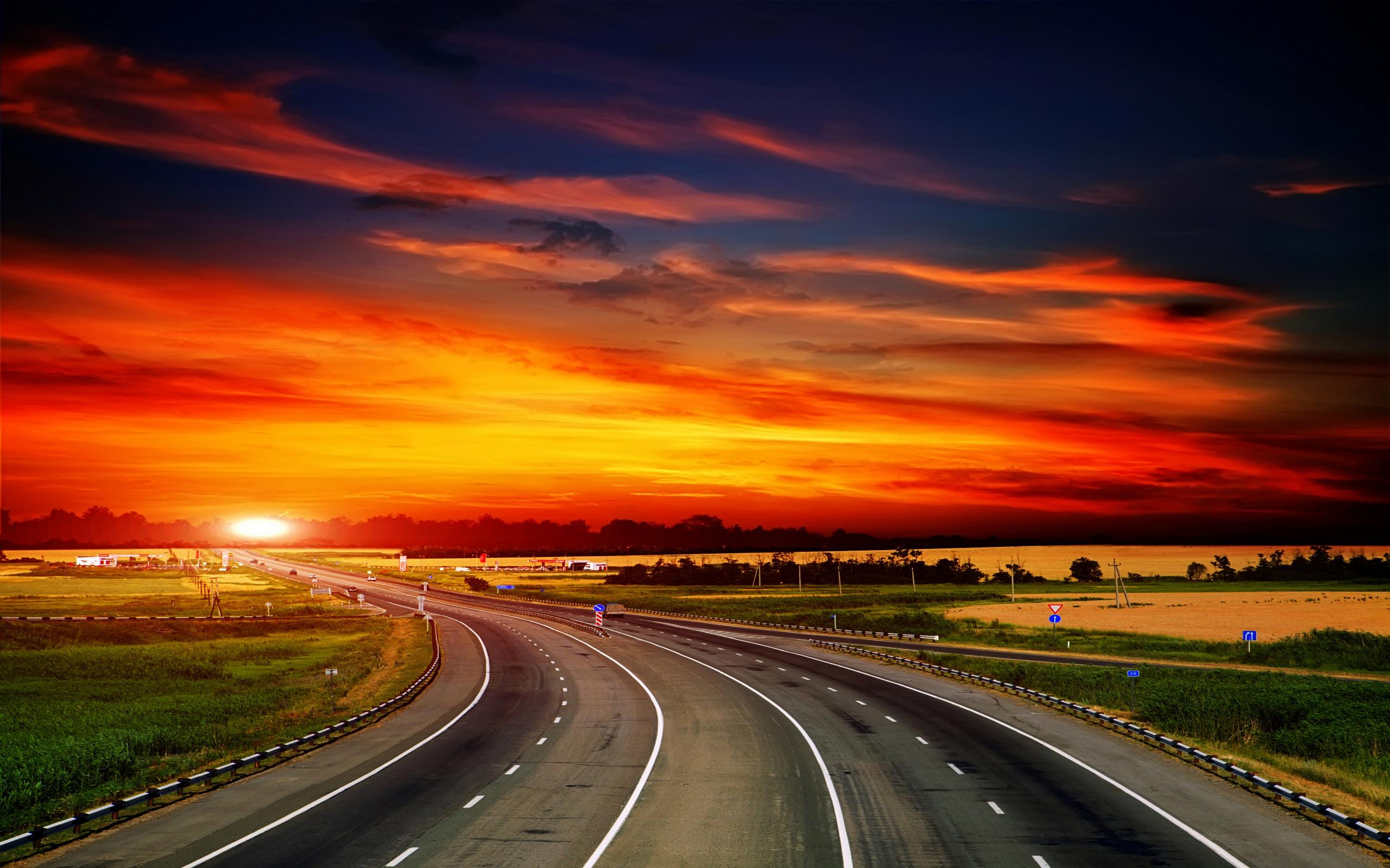 этого существует красивые картинки дороги и закат ресницы