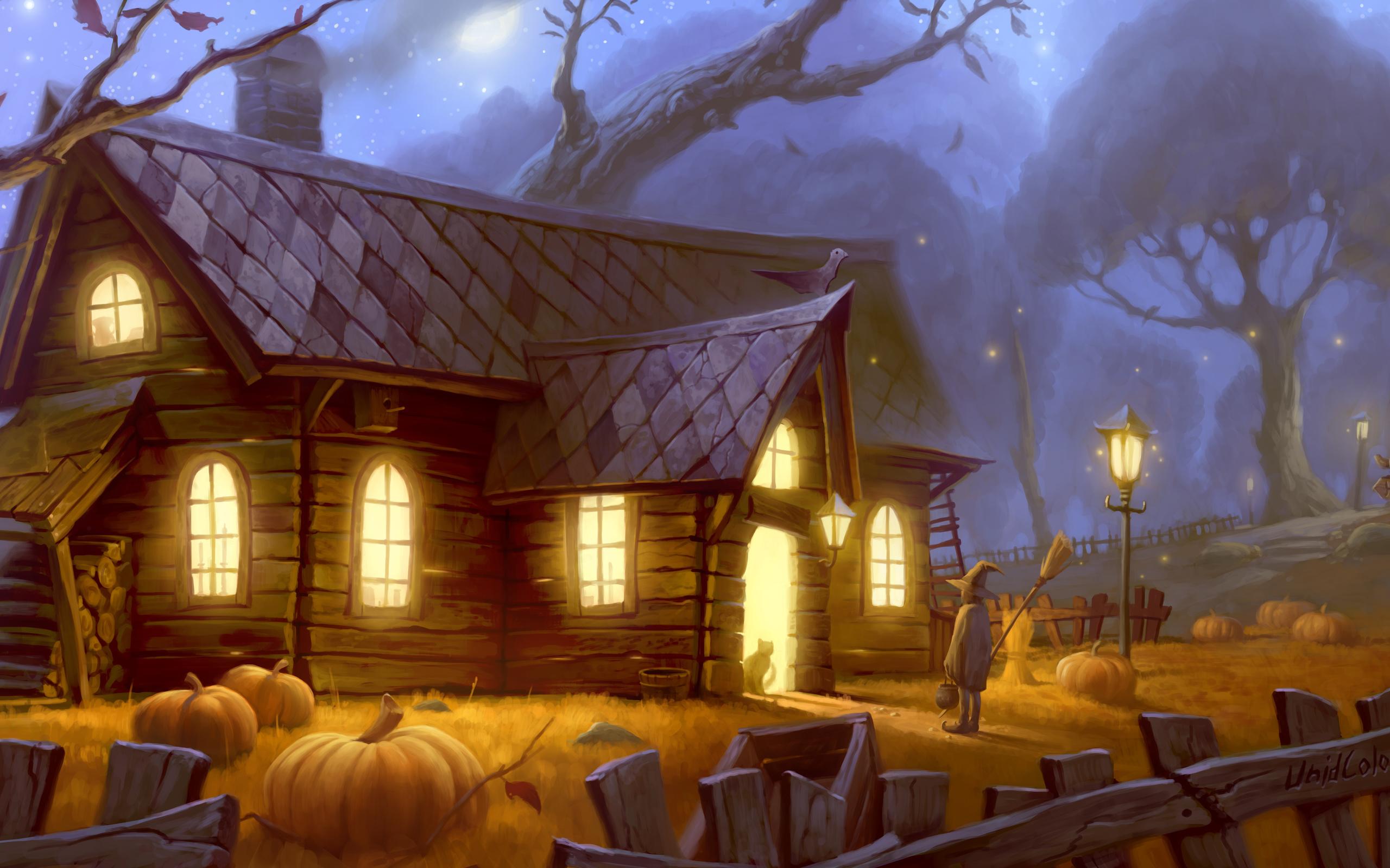 ведьмин дом рисунок бровей