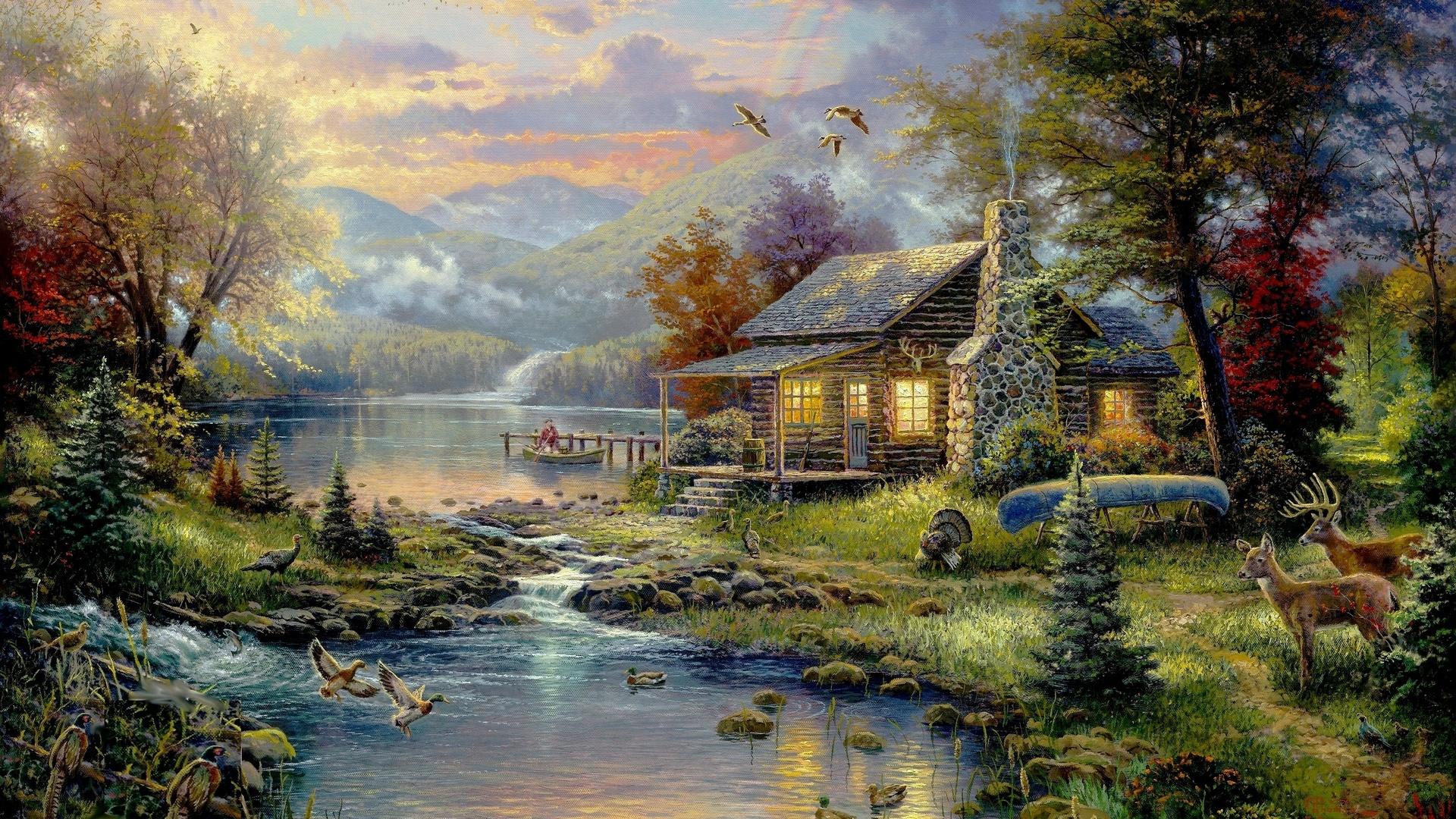 случайно красивые картинки с изображением пейзажа гостиница