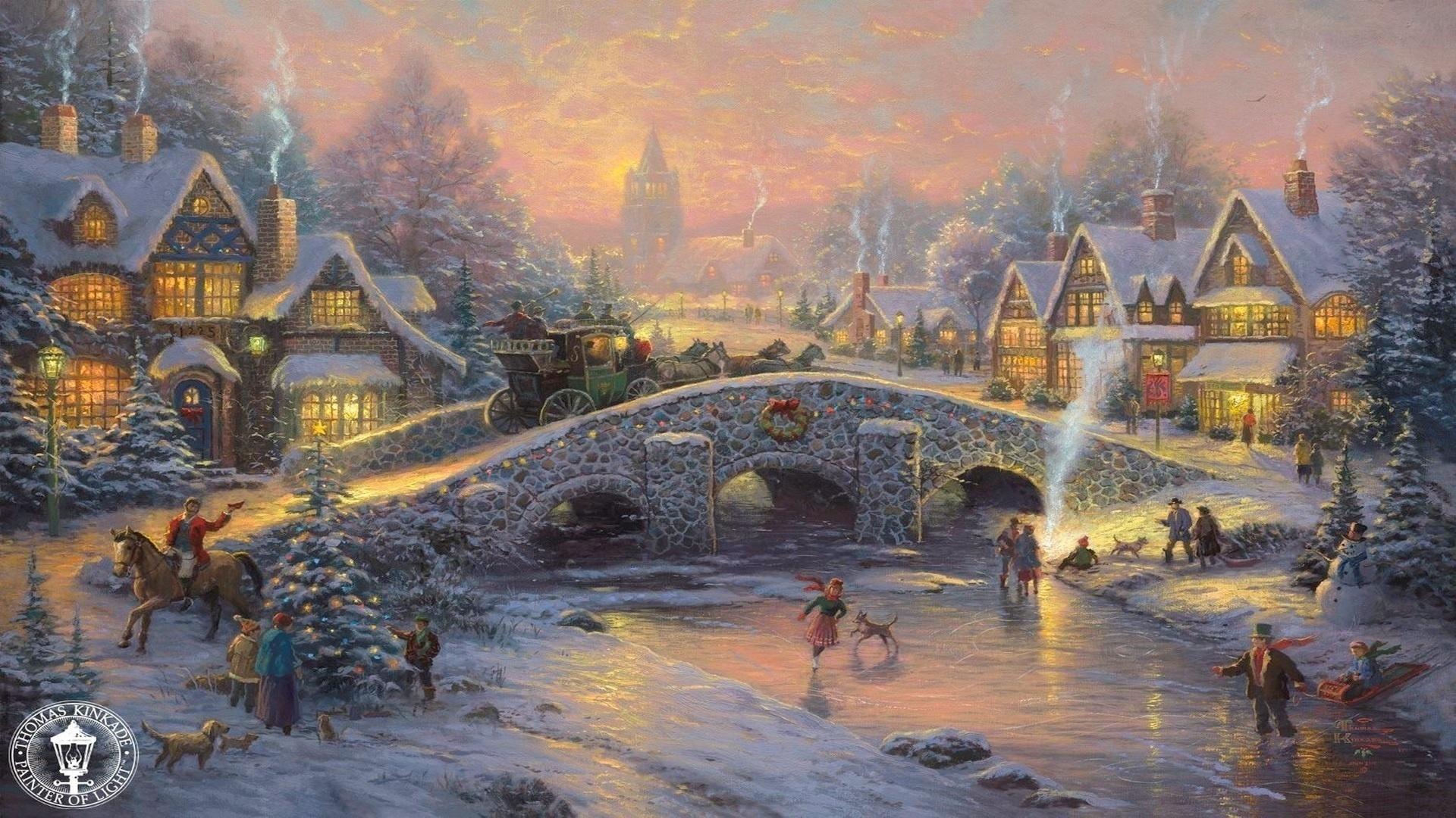 окружении красивые картинки с новогодними пейзажами стс готовит показу