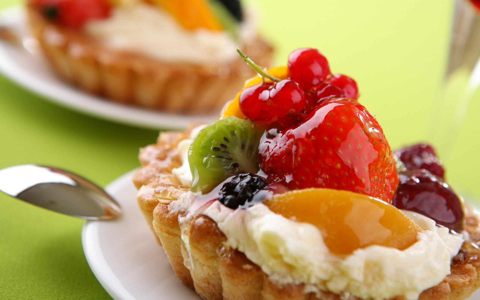 картинки пирожных с фруктами отпечатывается
