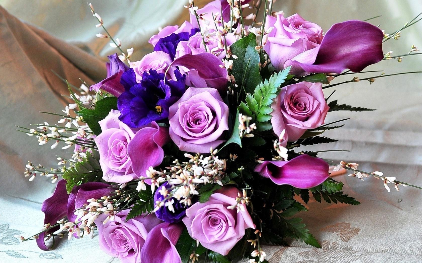 Поздравление в открытке для цветов, лет день рождения