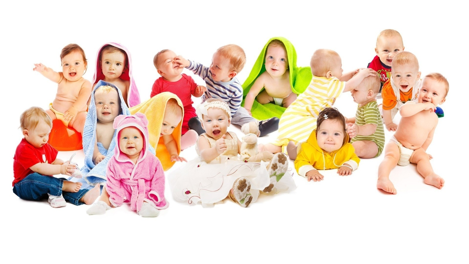 Картинки малышей много