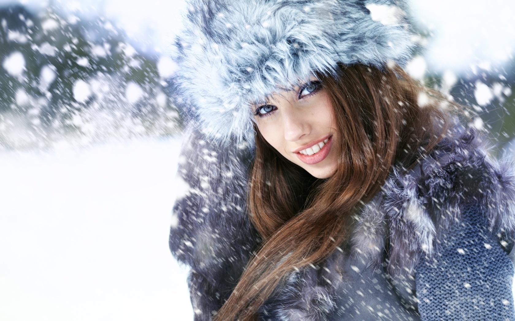 Картинки зимняя девушка