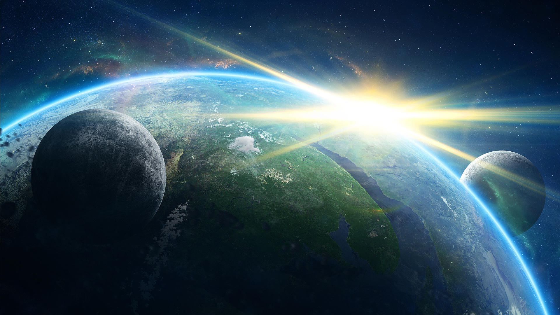 картинка планета земля на фоне космоса