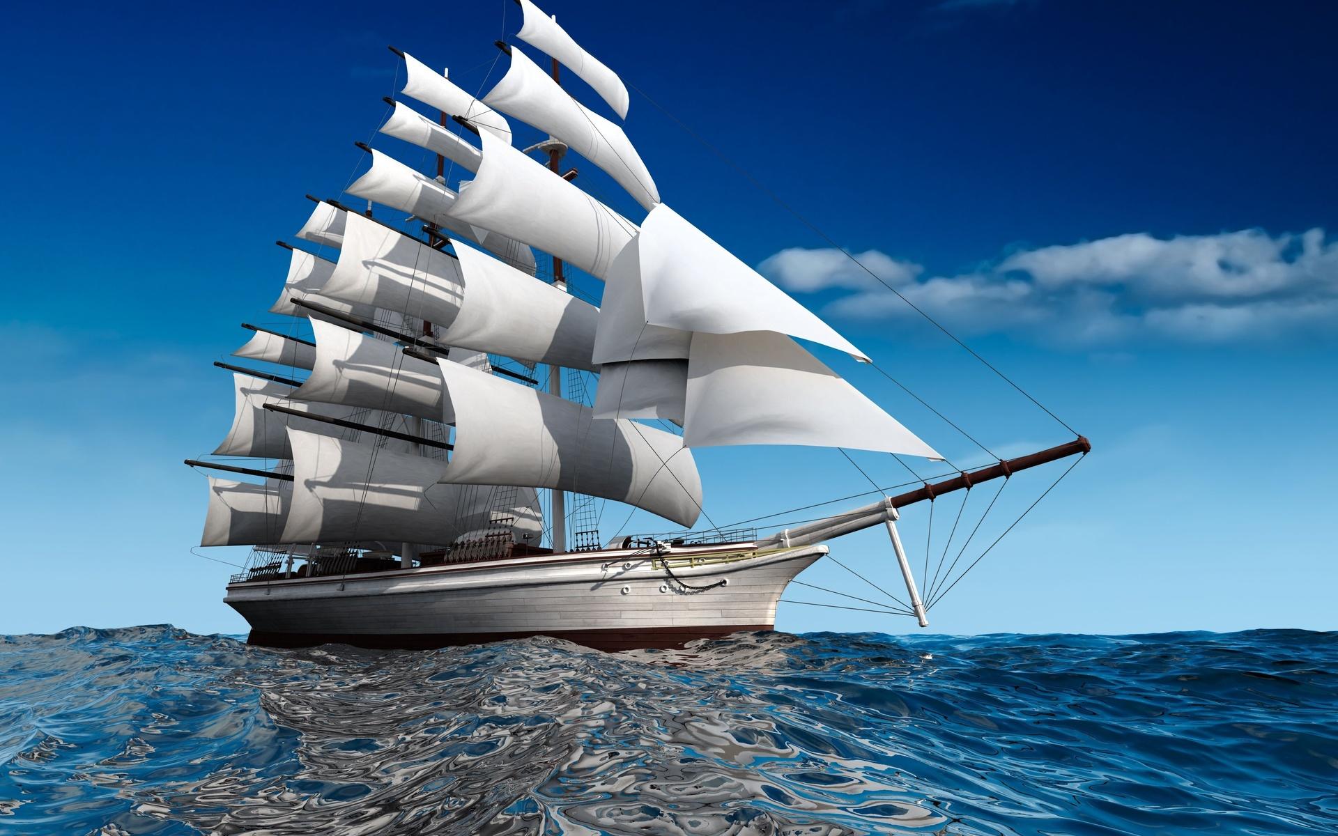 Парусники яхты открытки