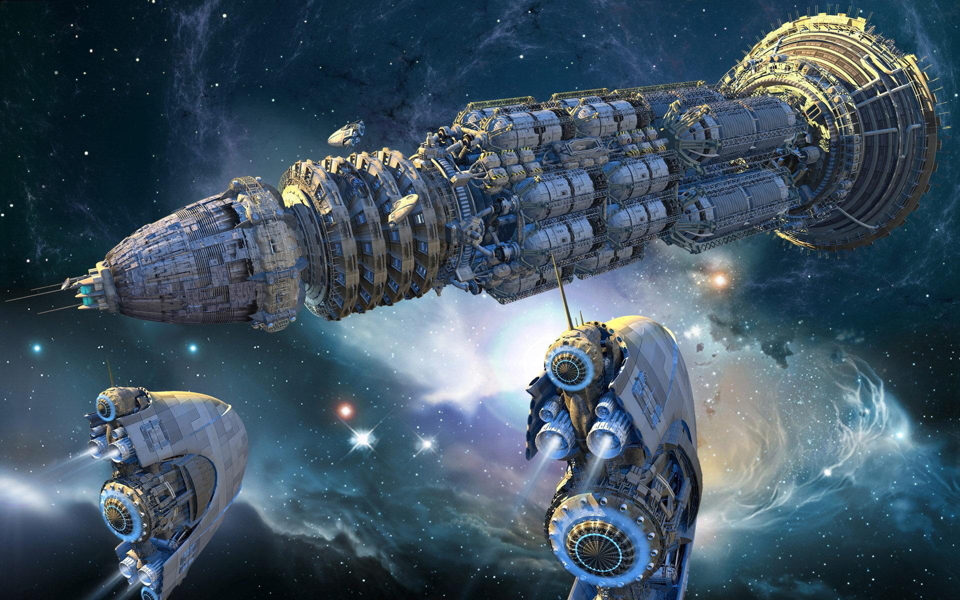 Космические корабли фантастика картинка