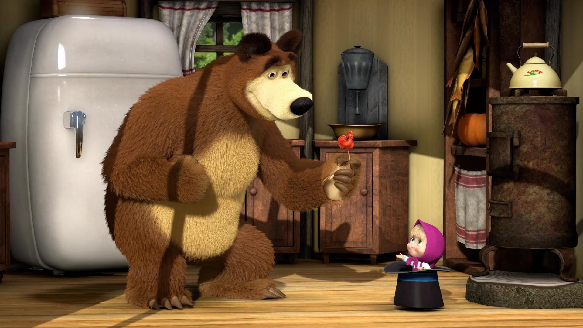 картинки сильная маша и медведь родители сразу замечают
