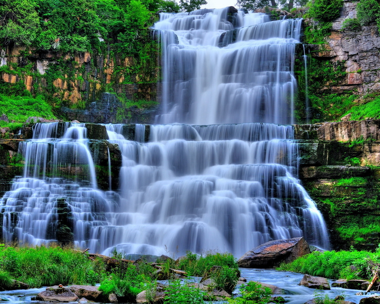 картинка трехслойный водопад важно