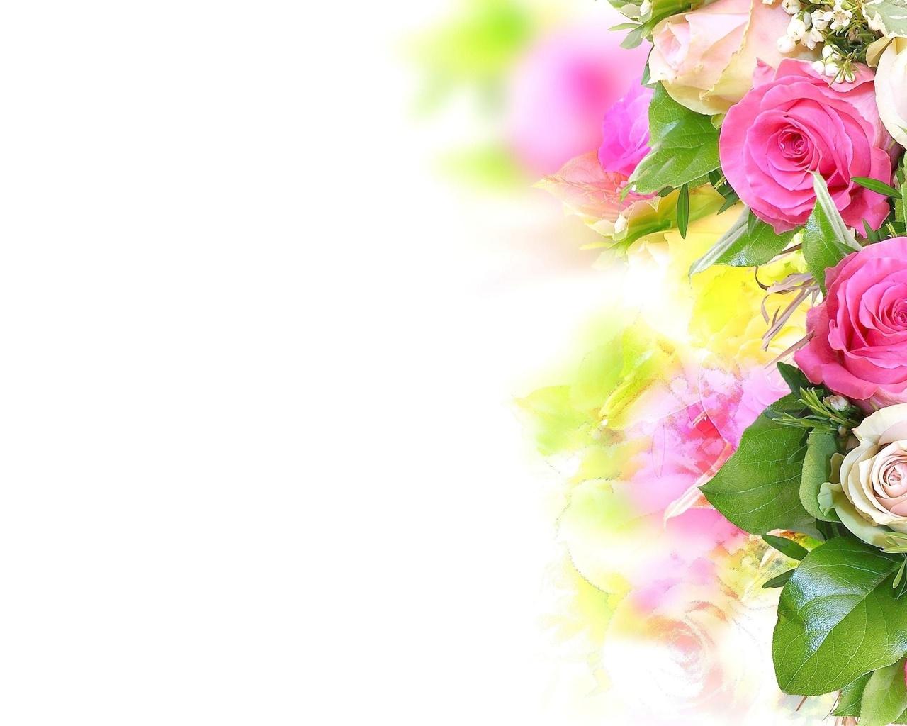 Красивые открытки без слов с цветами