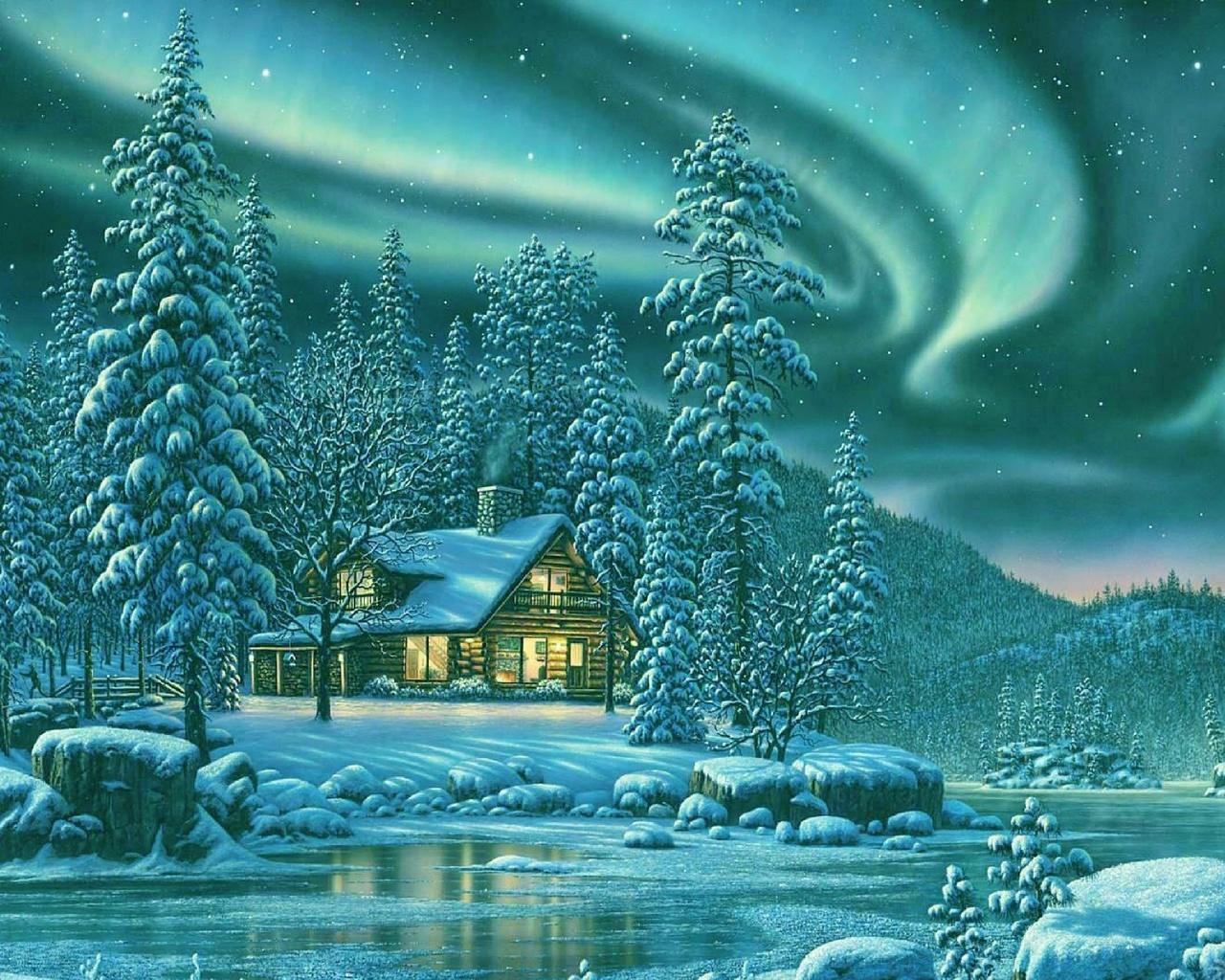 Картинка пейзаж зимний
