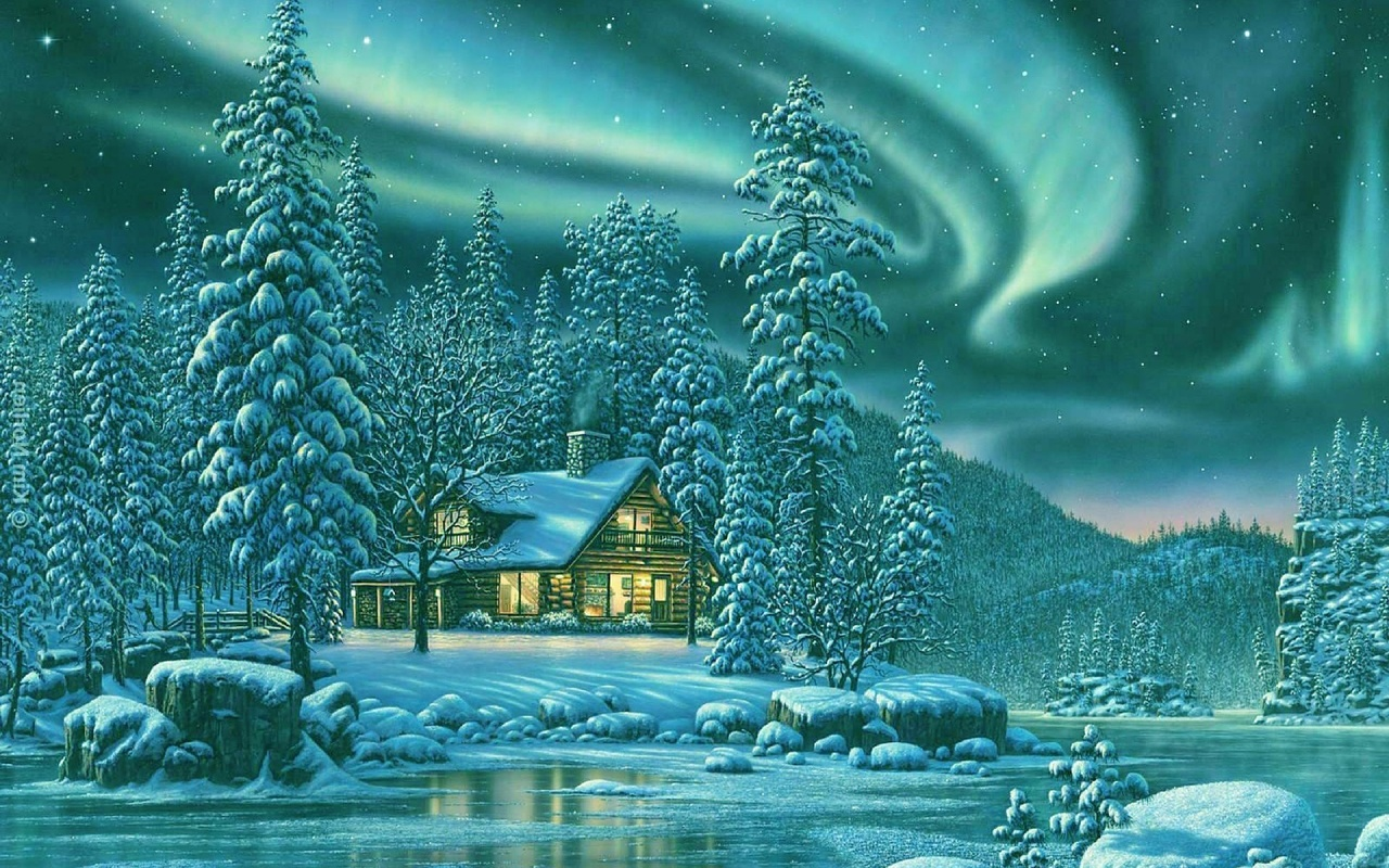 Зимняя природа открытки