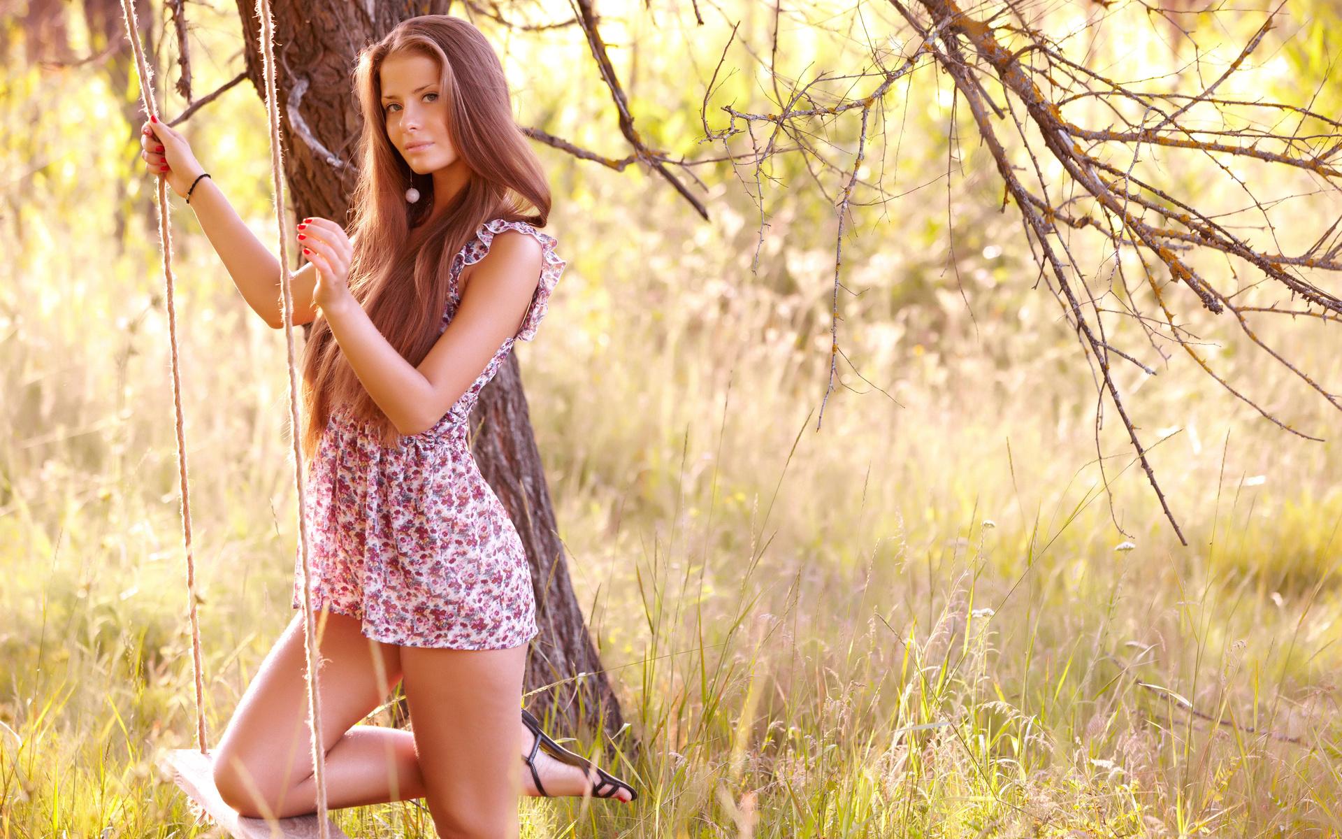 Девушка на природе картинки красивые