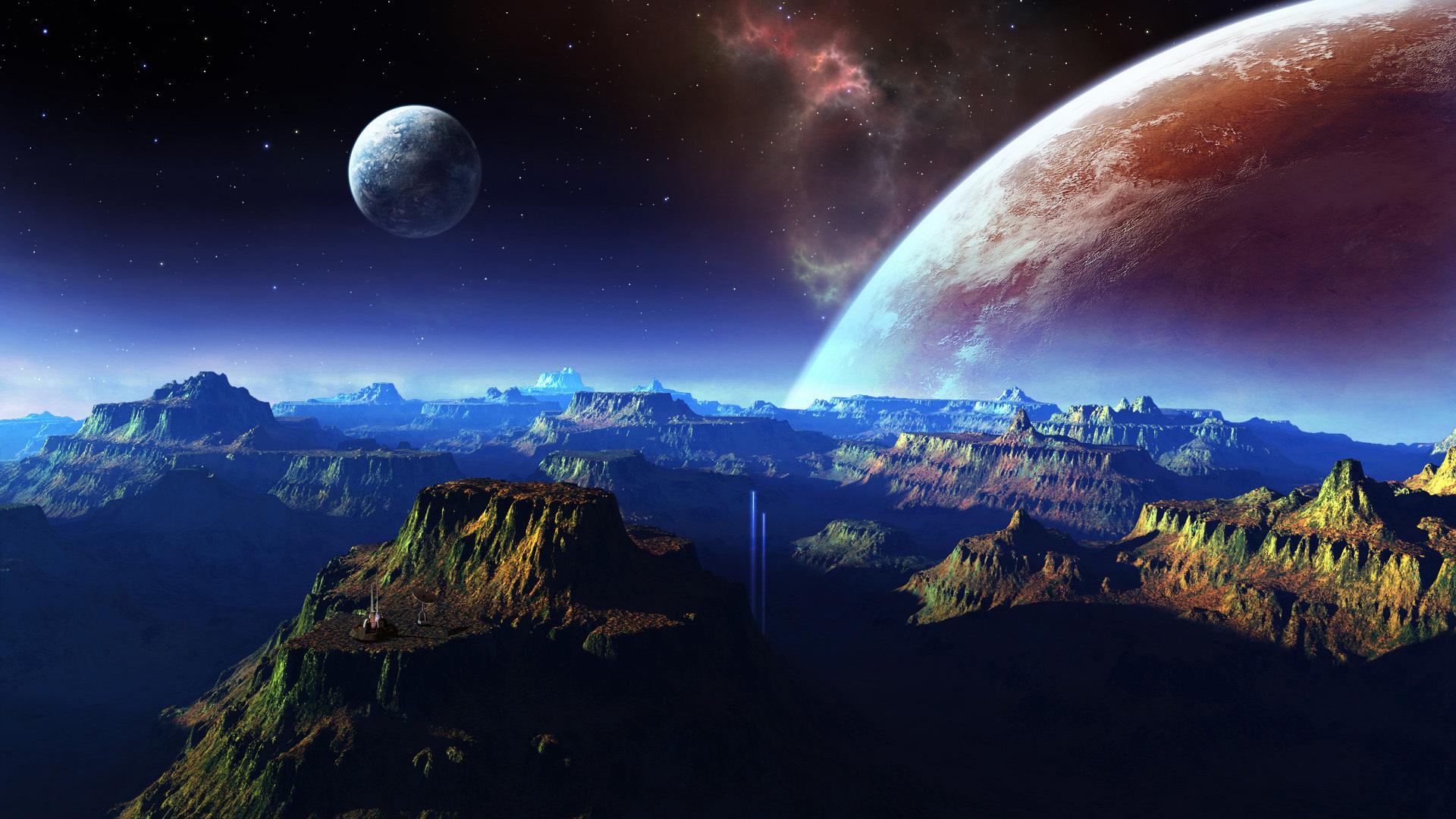 обогатить картинка планет на рабочий стол минимум