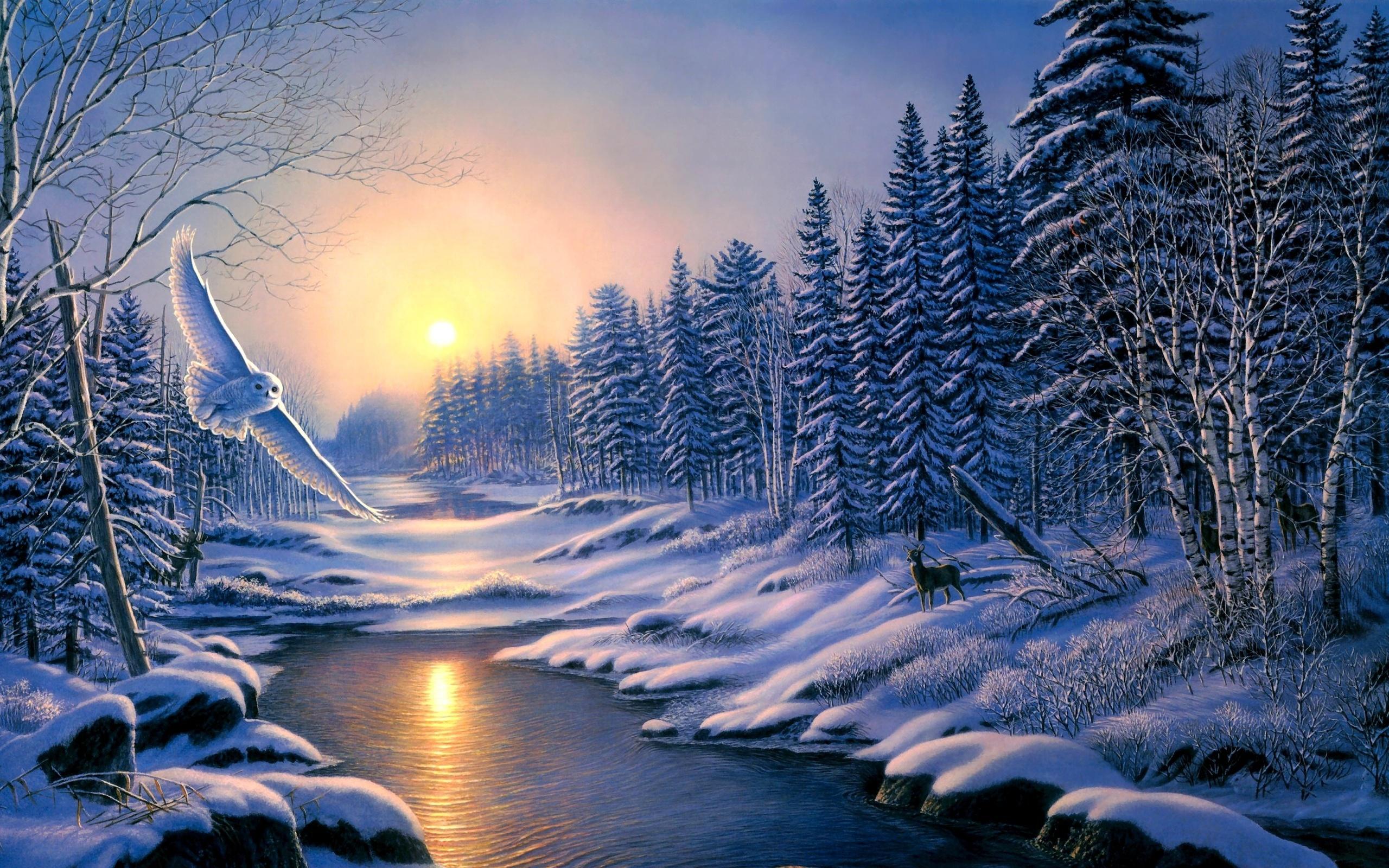 Зимние картинки для планшета