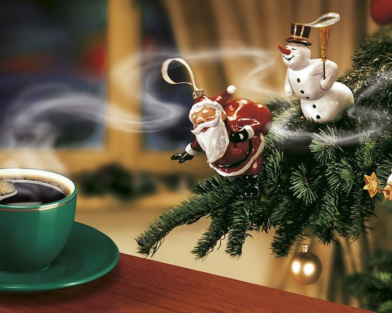 Картинки новогоднее утро прикольные