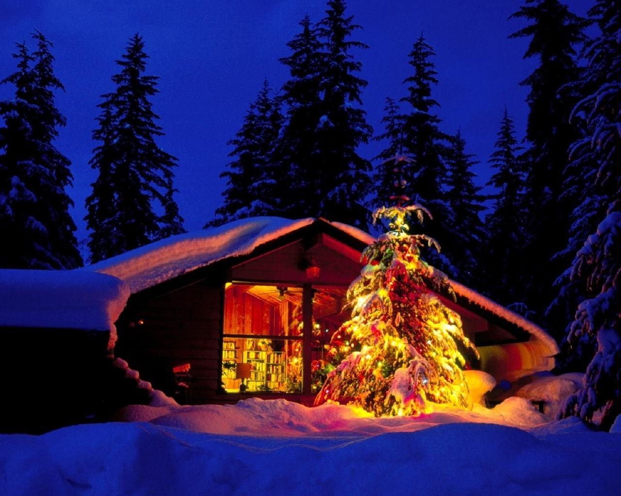 полноцветная новый год в лесной хижине картинки пожар дело
