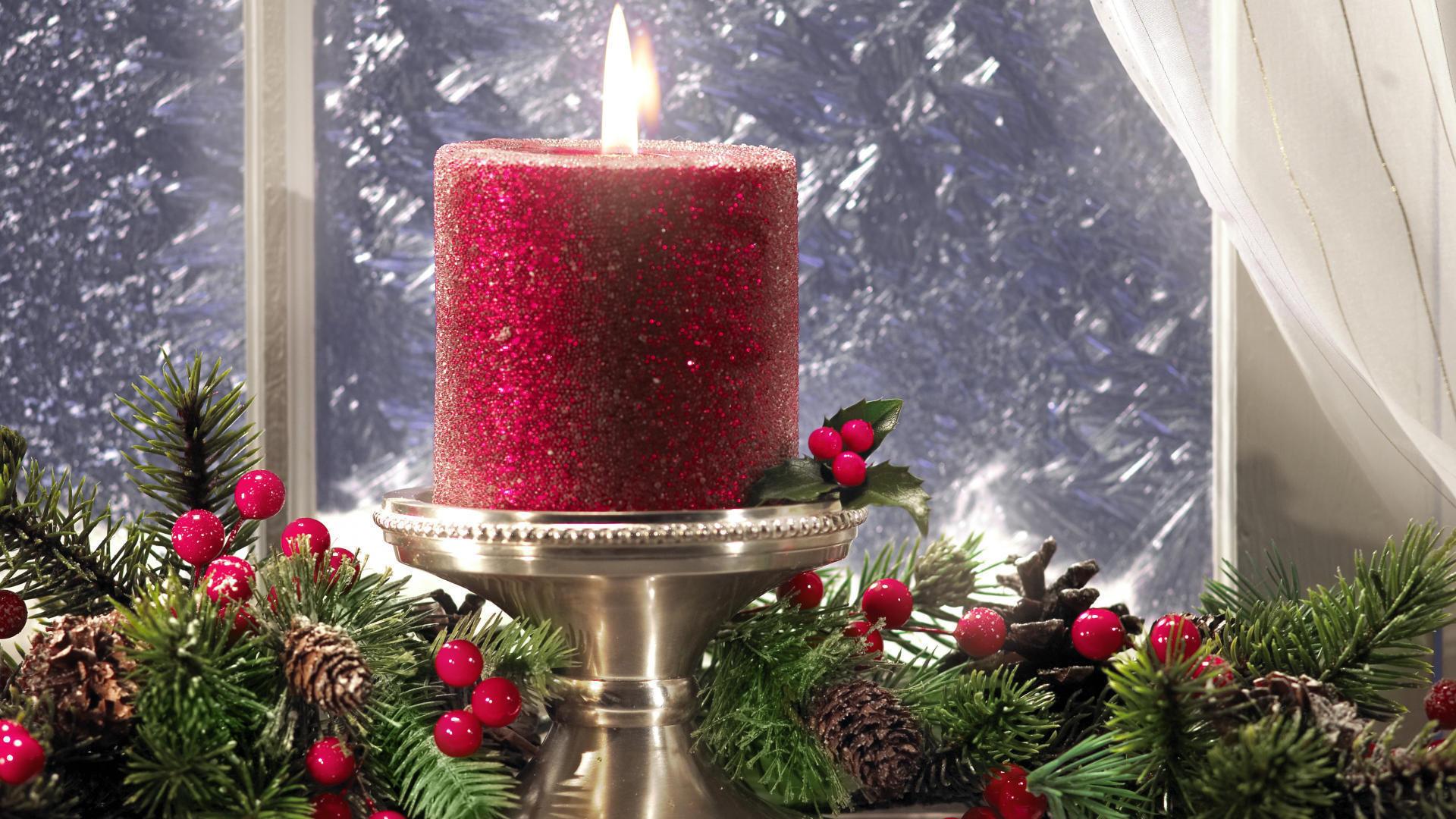 картинки красные свечи и новый год делу