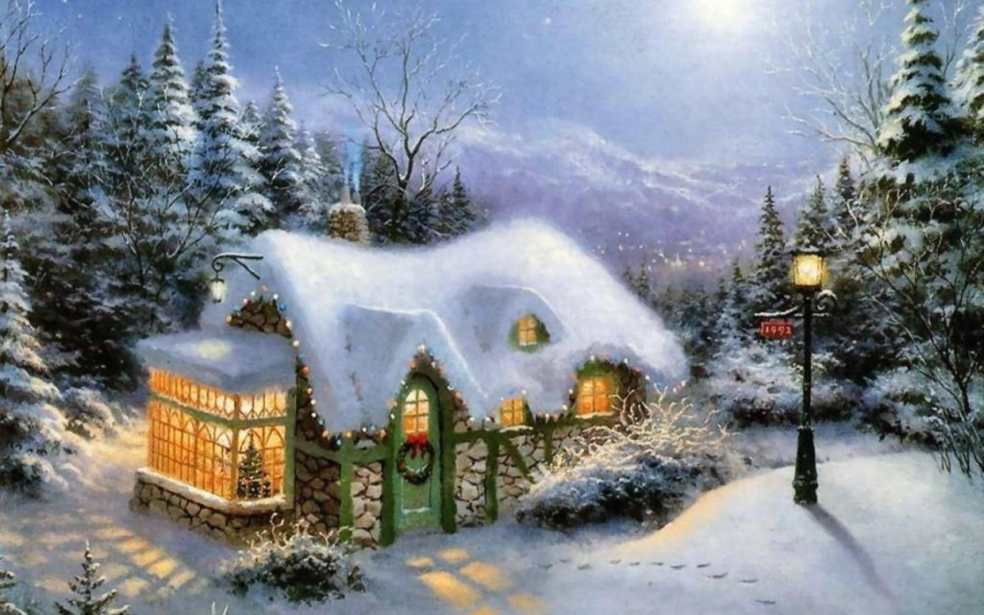 Открытка про зиму