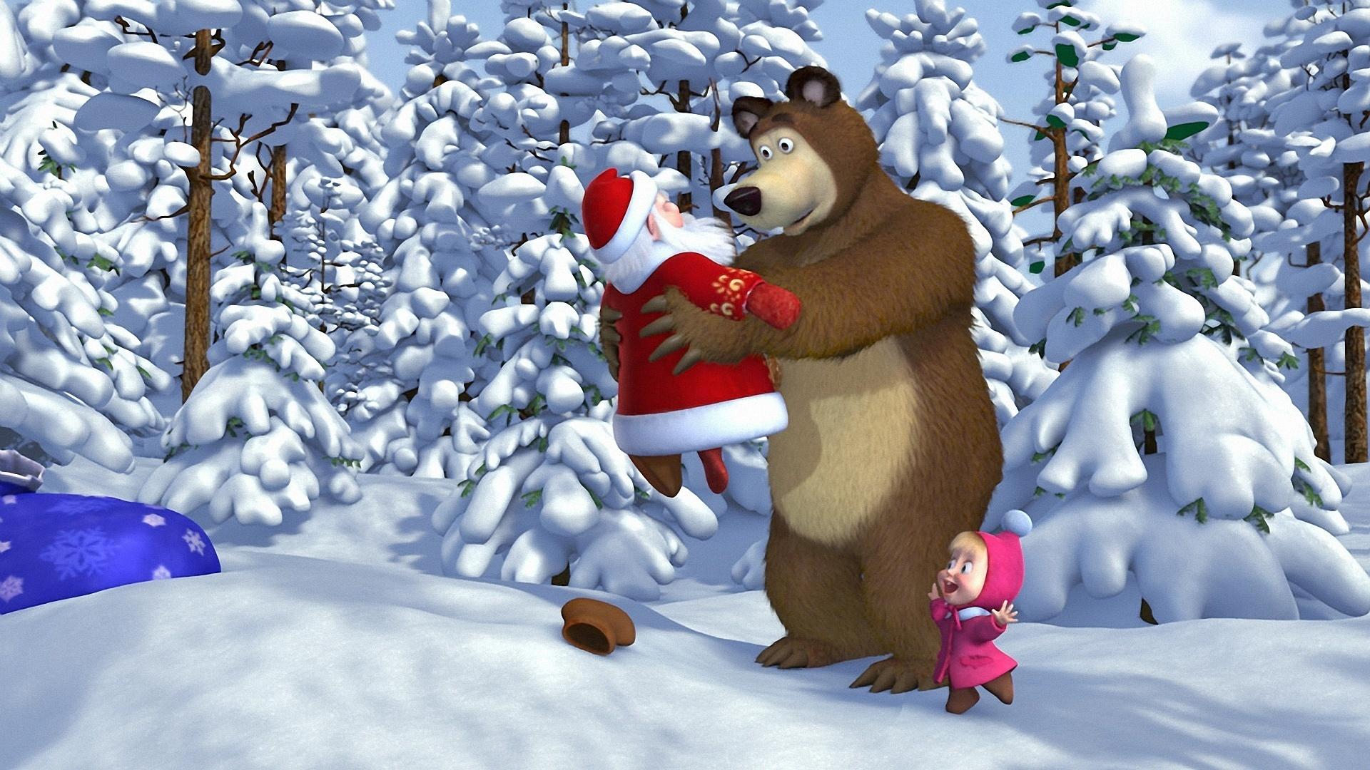 картинки маша и медведь новый год маша и медведь моменты