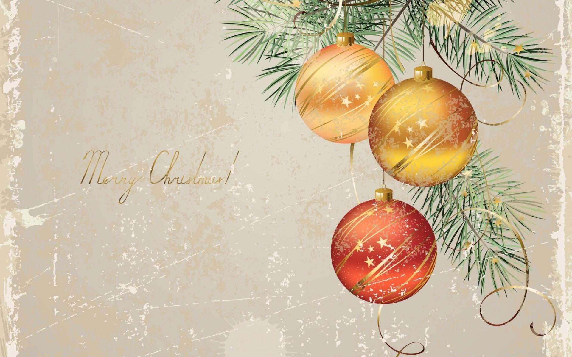 Новогодние открытки елочные шары