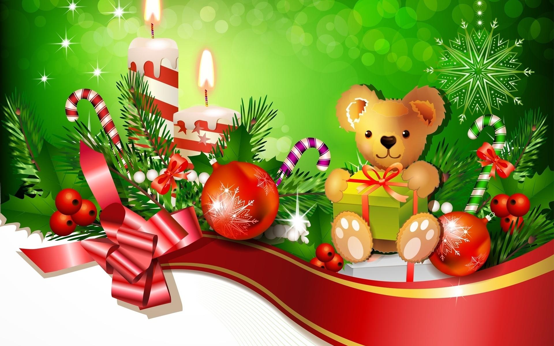 красочный картинки рождественских поздравлений