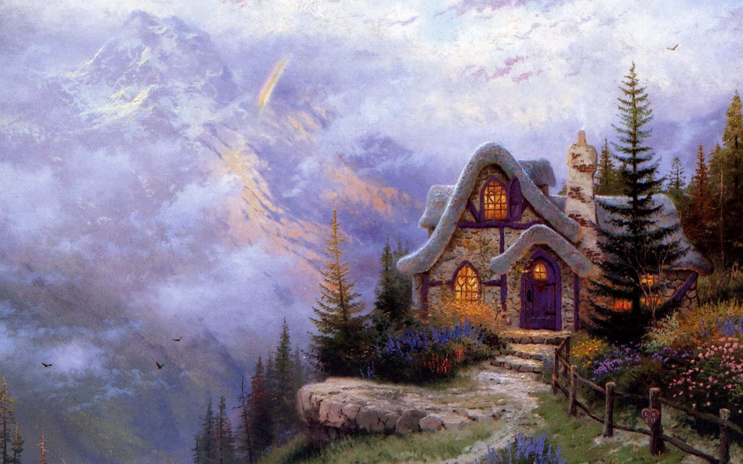 плоские сказочные домики картинки хорошего качества юду