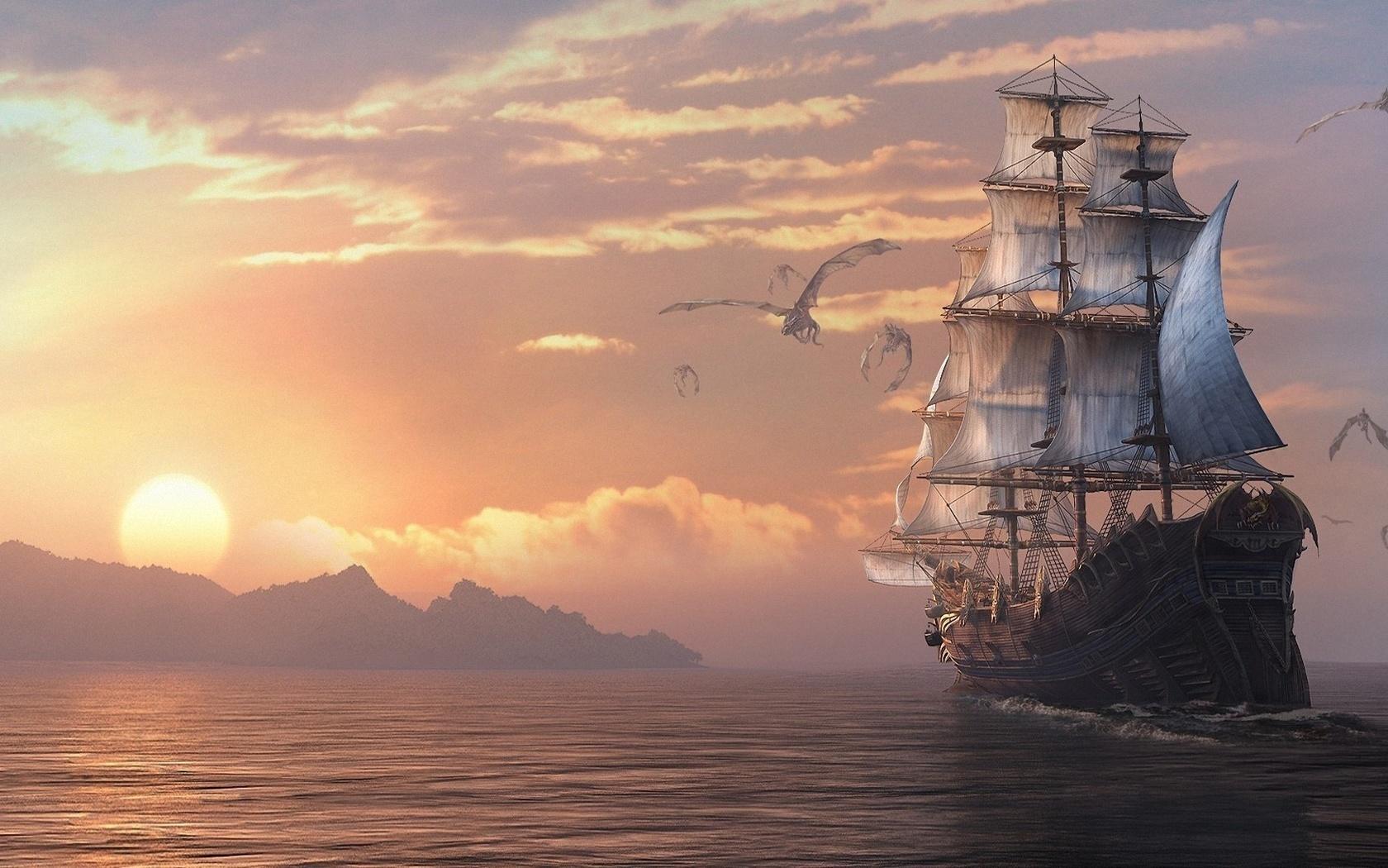 могут картинки фэнтези небо и корабль практически всех