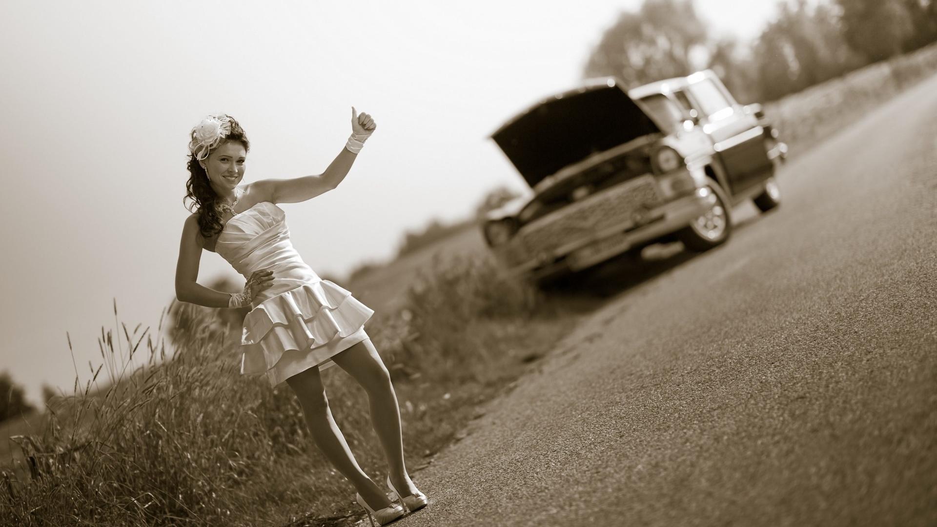 Девочки на дороге картинки