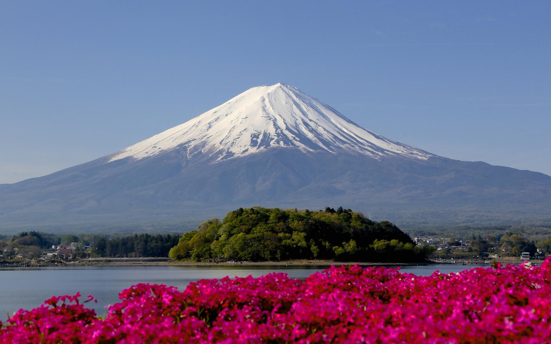 Гора фудзи в японии картинка