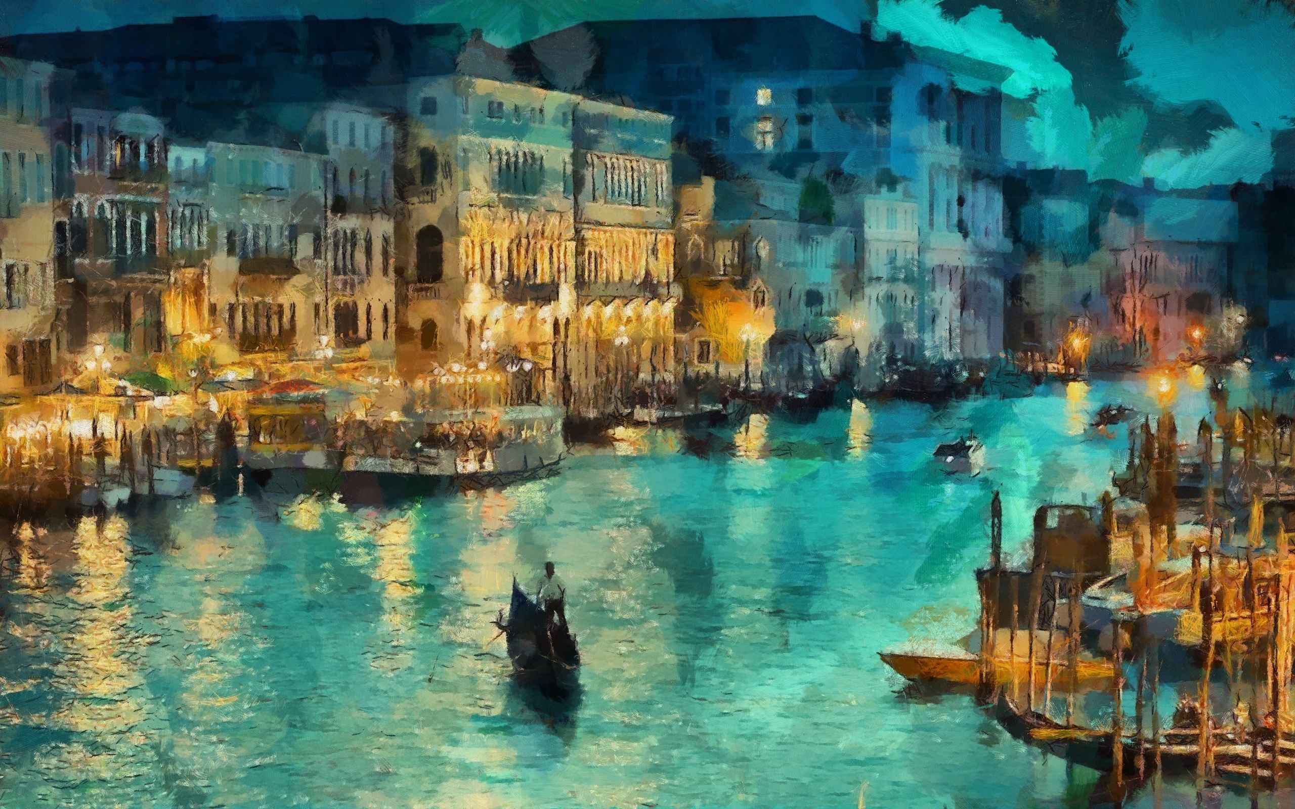 Технологии открытка, открытка венеция