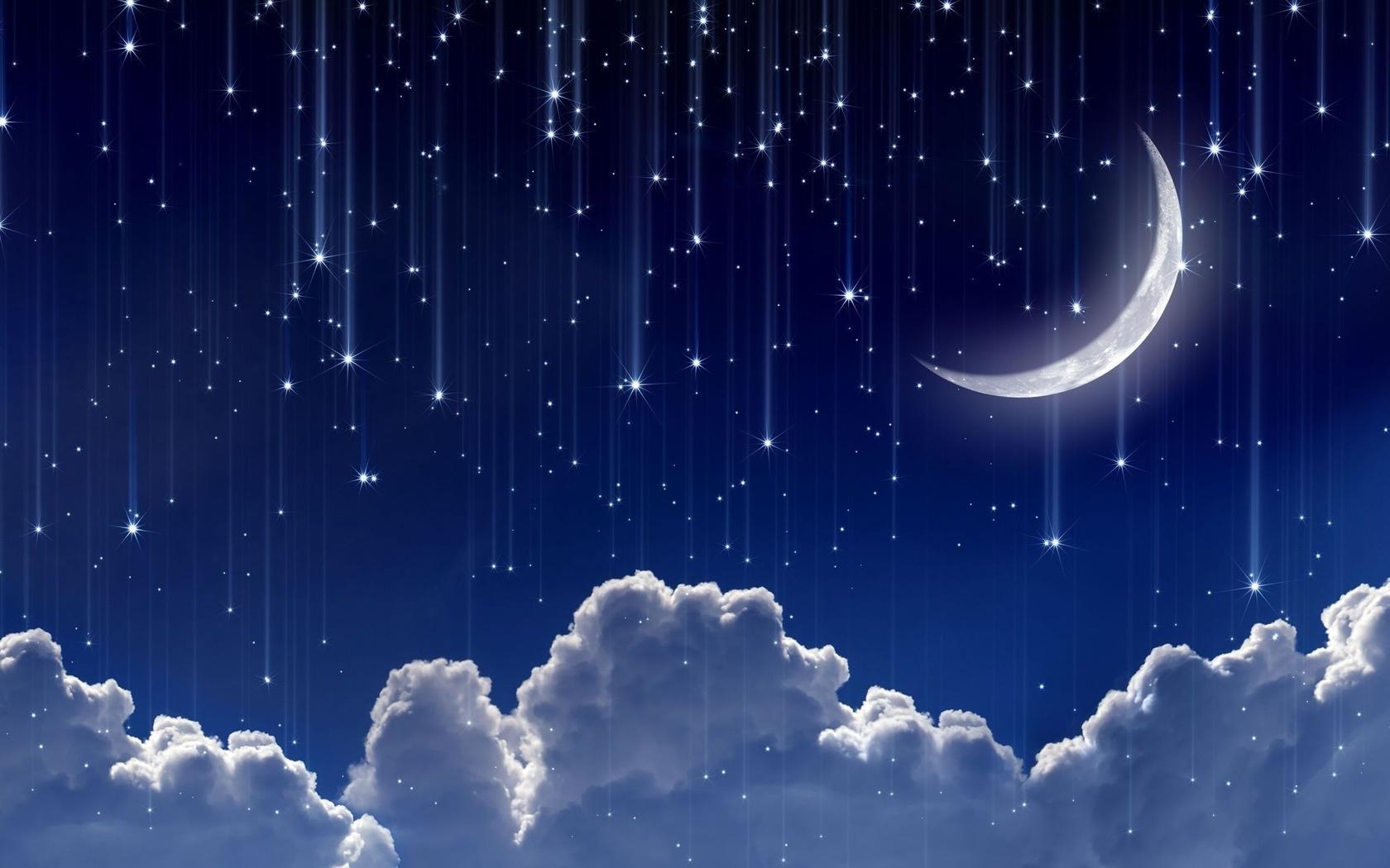 Картинки звездопада или луны