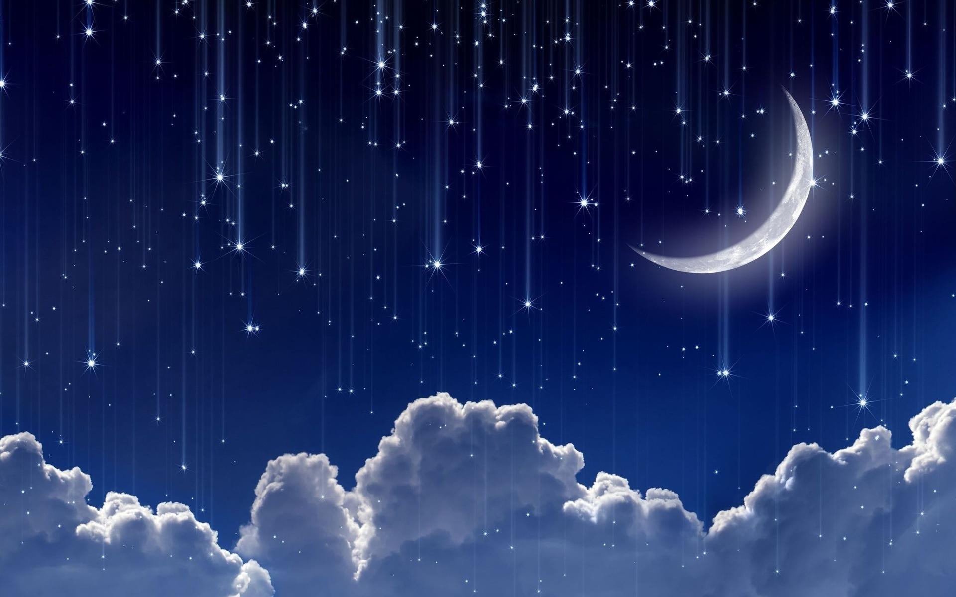 Картинки луна и звезды