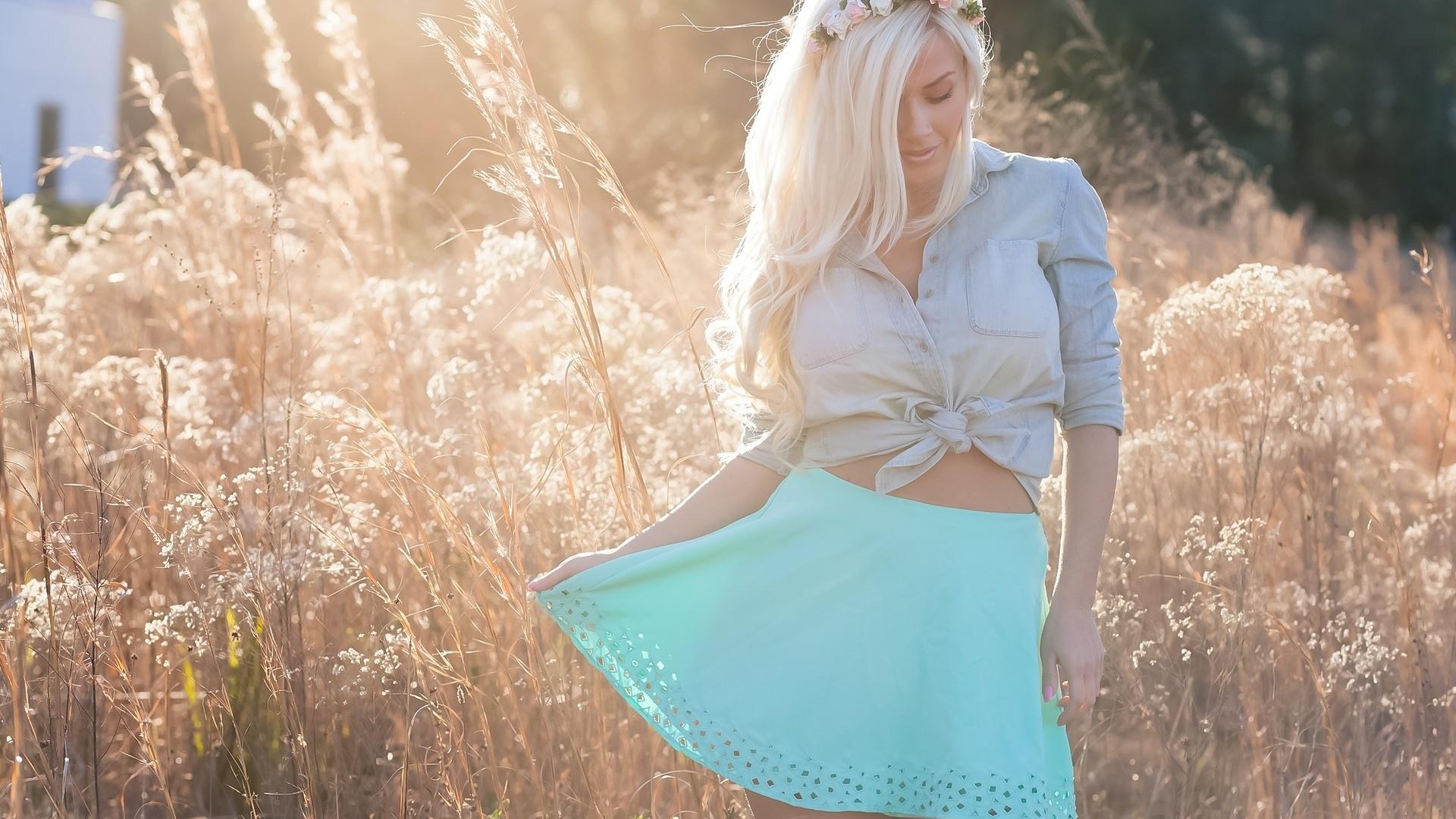 Картинка блондинка и весна