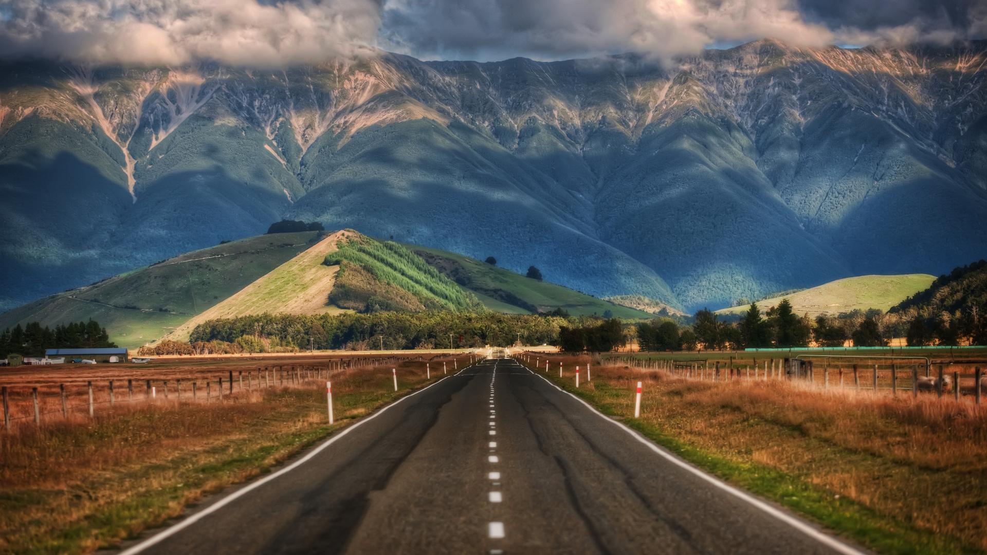 Картинки фотообои дорога