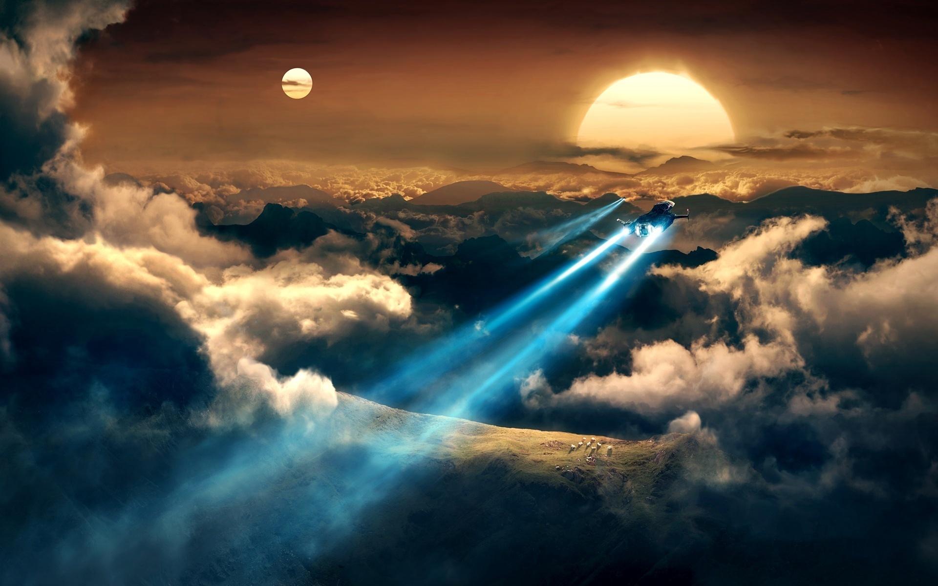 земля в облаках красивая картинка сожалению