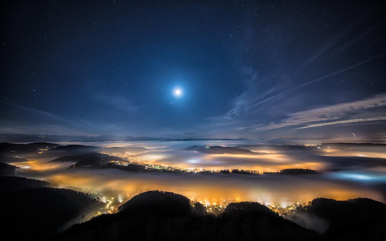 Картинки красивое небо со звездами
