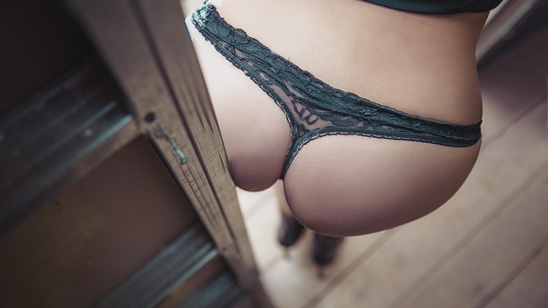 Красивые попки в черных трусиках, секс эротика видео секса