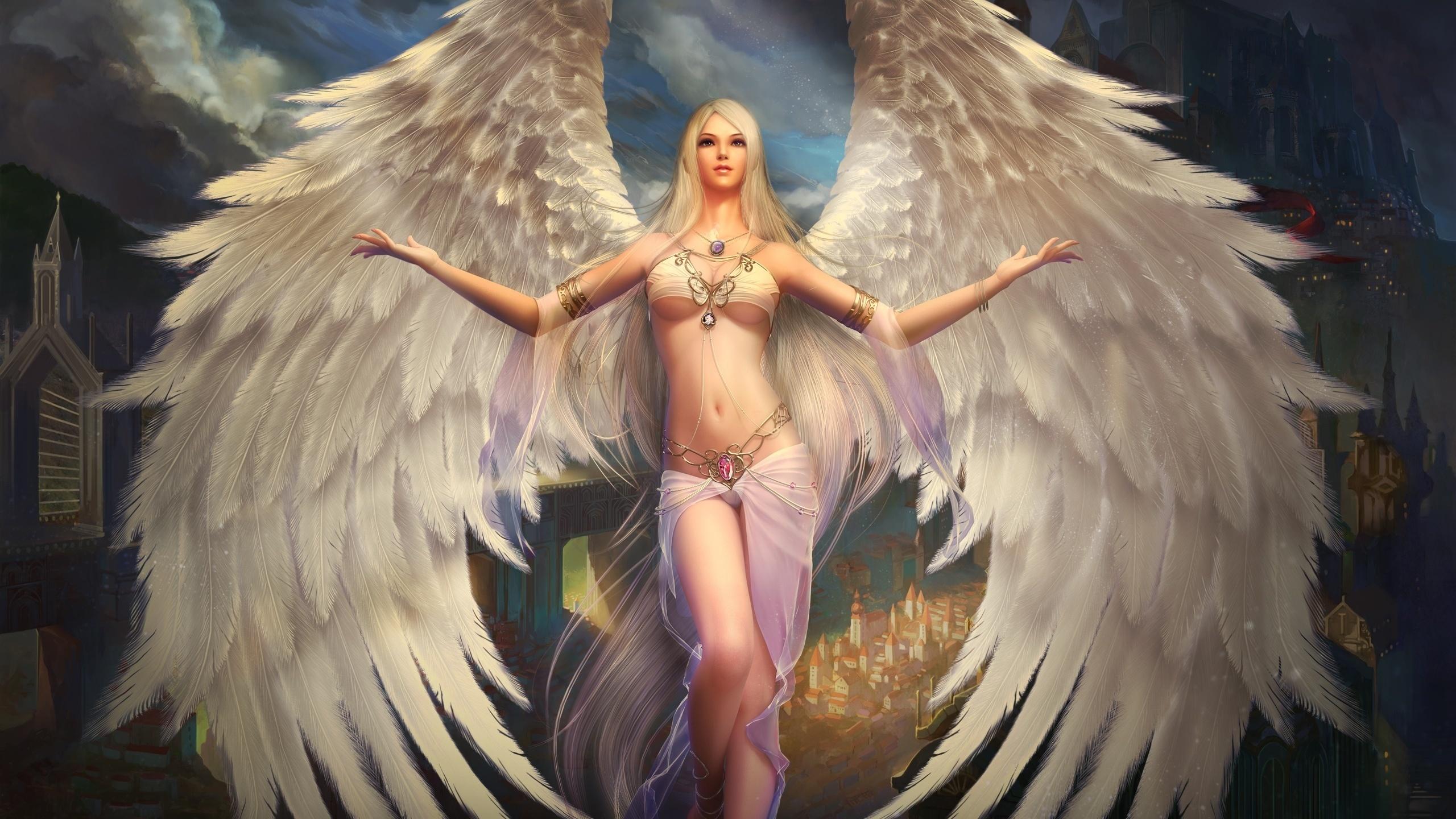 Красивые картинки с ангелами девушками, дня хорошего