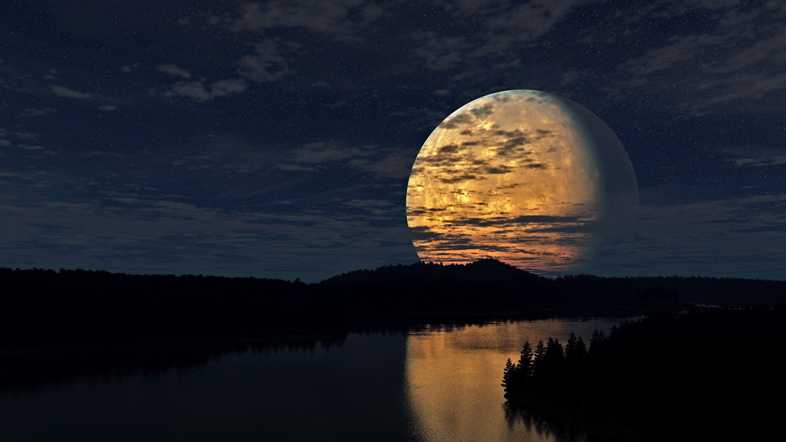 Днем рождения, картинки ночь красивые