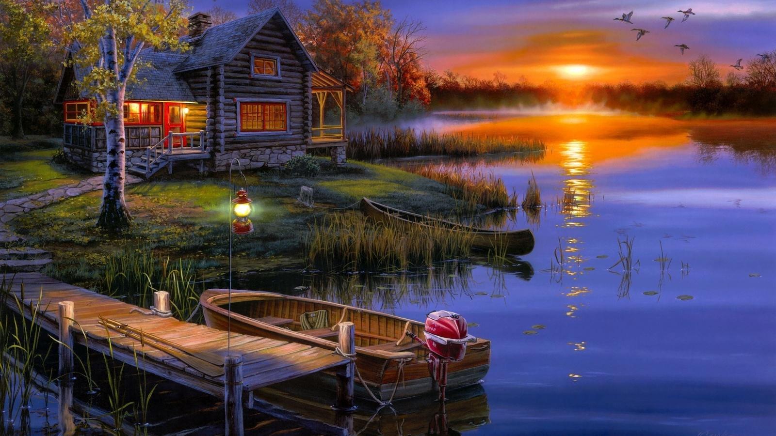 Днем, открытки с ночными пейзажами