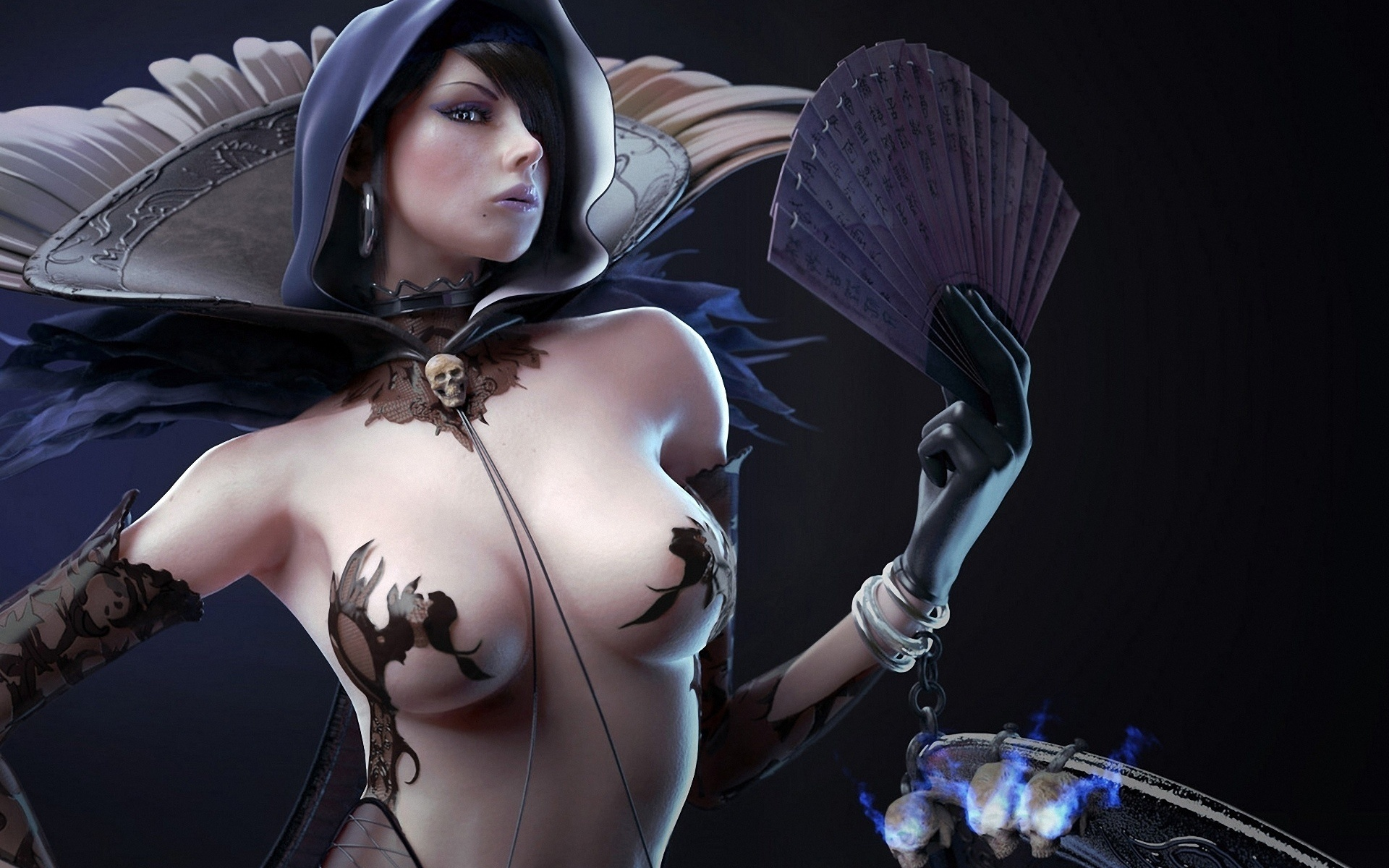 Busty hot sexy fantasy desktop backgrounds — pic 5