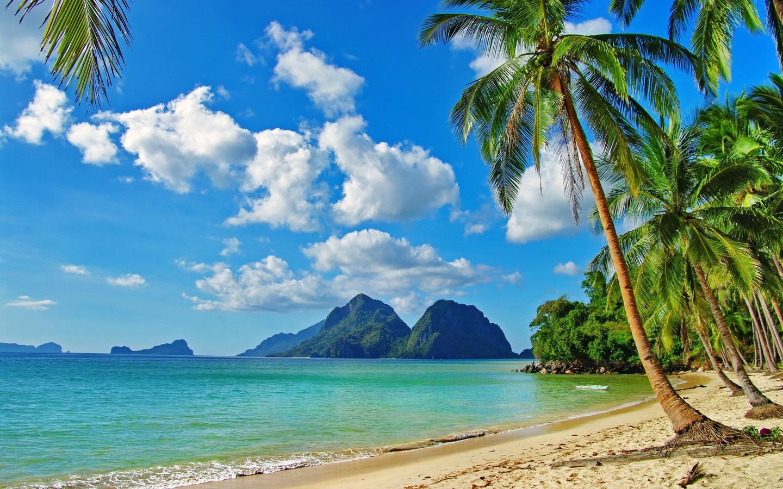 Для, открытка с пляжем