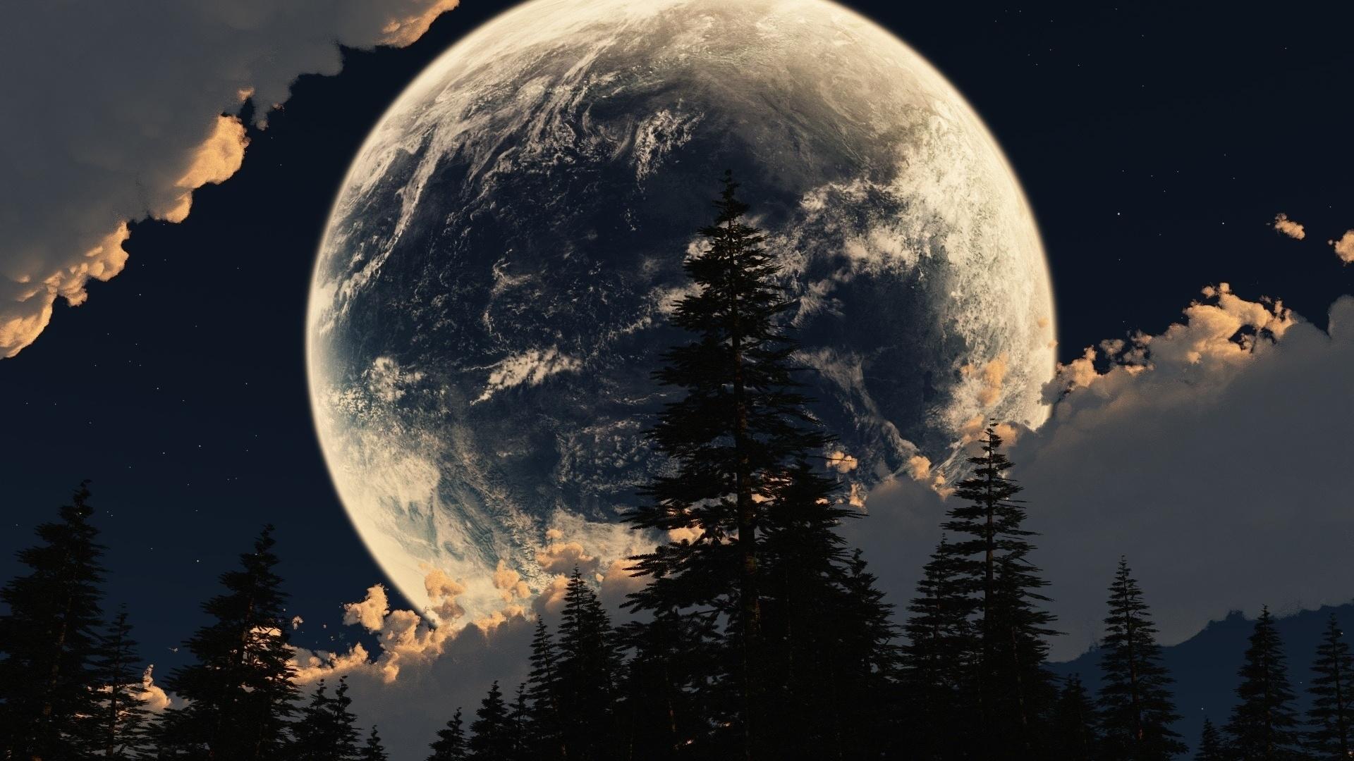 Классные картинки луны