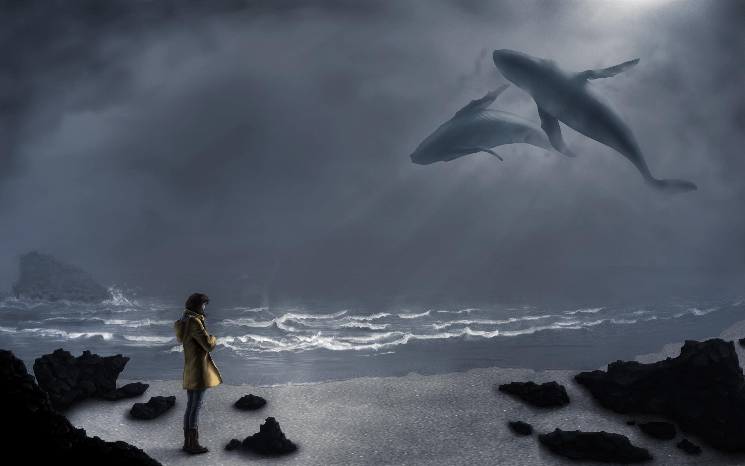 Картинка синий кит в небеса
