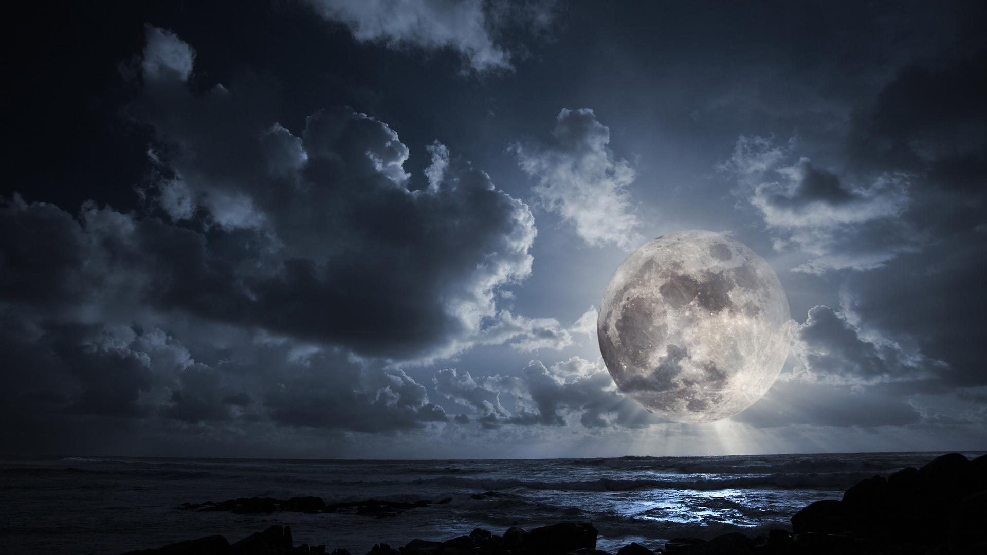 картинки ночь полнолуние срокився